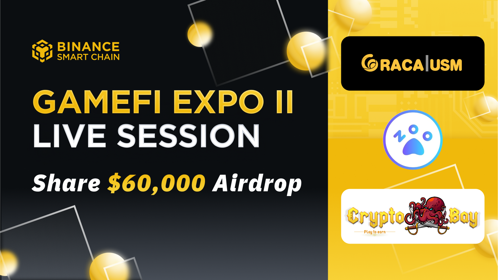 BSC GameFi Expo: 3 new games, $60k in airdrops, and special events