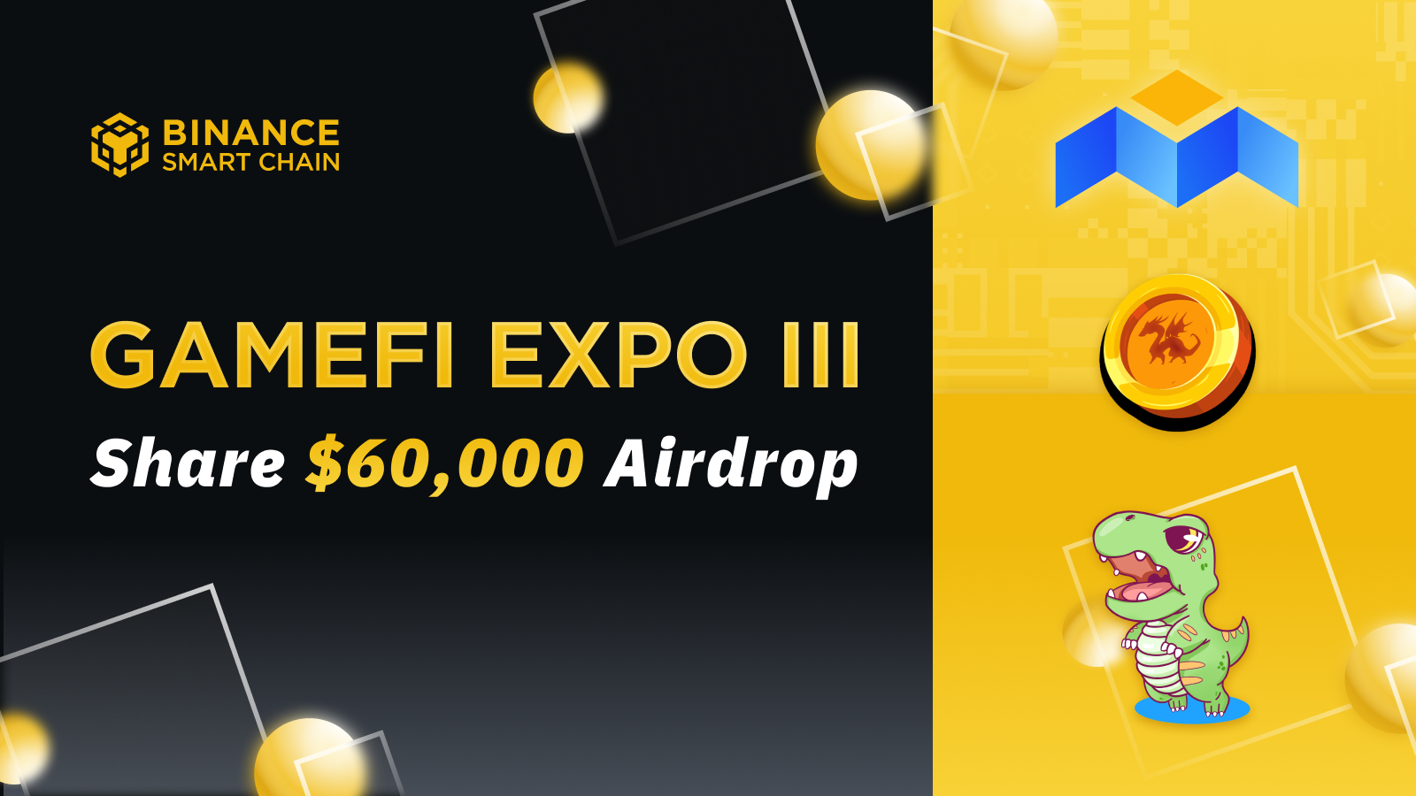 The BSC GameFi Expo Continues: 3 New Games and Over $60k in Airdrops on CoinMarketCap